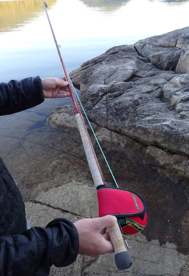 Breaking down fly rods for easy transport.