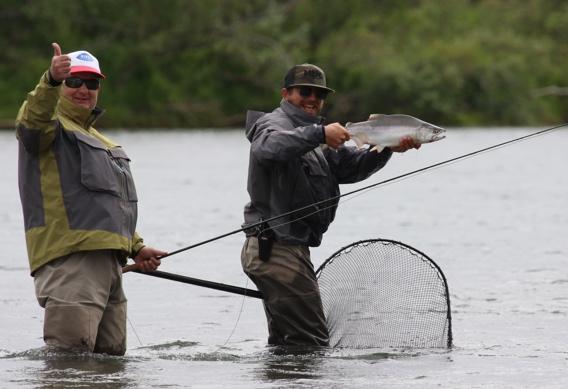 Fly fishing at Alaska West.