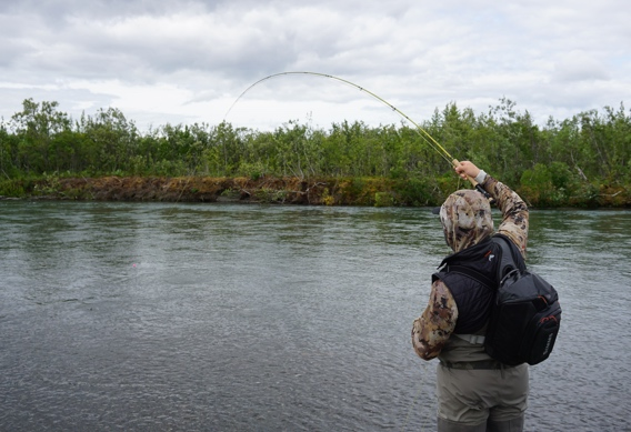 Nymphing for trout with strike indicators