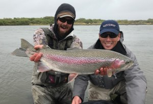 Big leopard rainbow trout from Alaska West