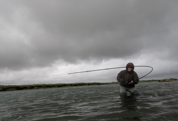 Fighting king salmon on spey rods