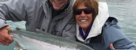 Bead fishing for rainbow trout in Alaska