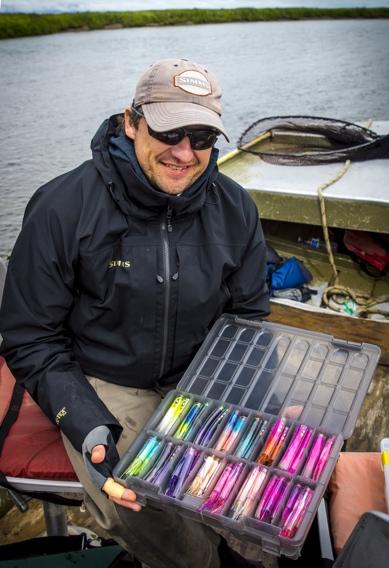 Choosing salmon flies