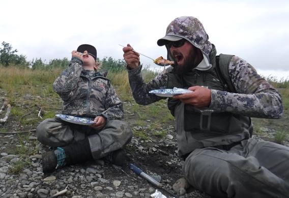 Shore lunch at Alaska West