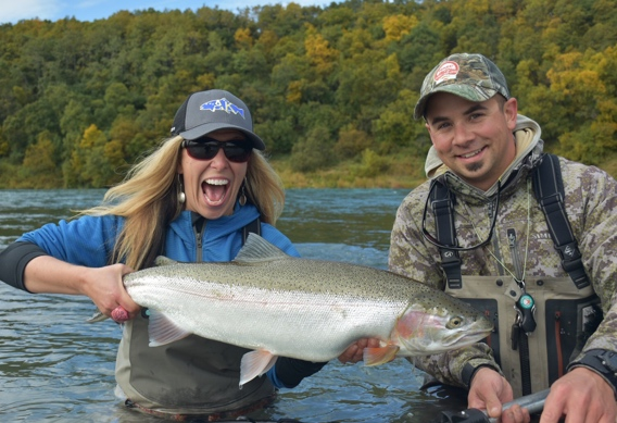 Spey fishing for Naknek rainbow trout