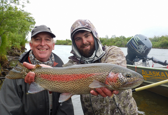 Leopard rainbow trout at Alaska West