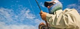 Fighting bonefish by Tosh Brown