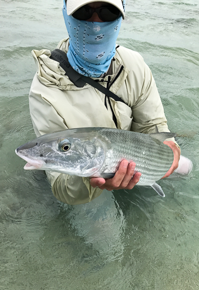 Big bonefish in bad weather