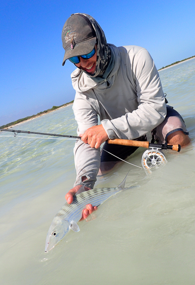 Grant turner with South Andros bonefish