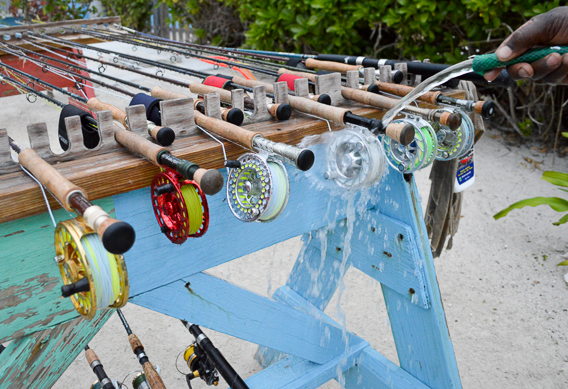 Rinsing gear at Andros South