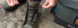 Broken wading boot laces hack