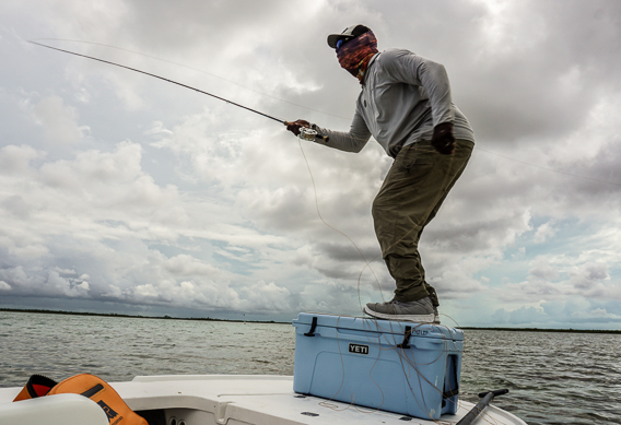 Yeti Tundra 65 as a fishing platform