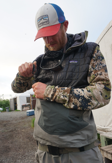 Puffy vests for fishing
