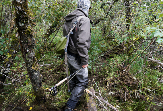 How to carry fly rods through the woods