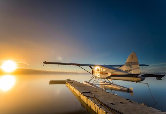 Rapids camp lodge plane