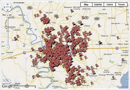 baton rouge real estate agent geographic competency map