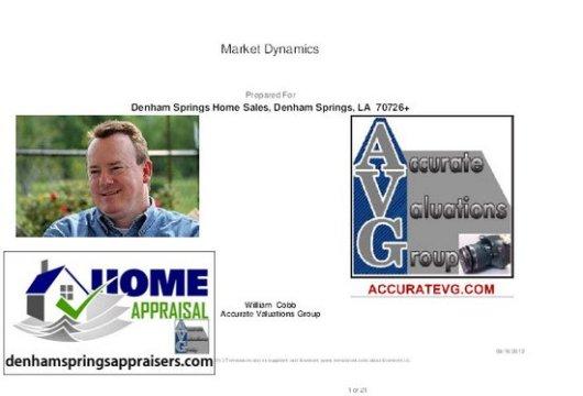 Denham Springs Home Sales Trends August 2011 vs August 2012 PDF