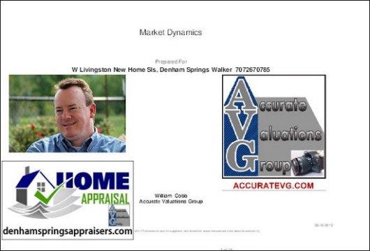 Denham Springs Watson Walker New Homes August 2012 Report PDF