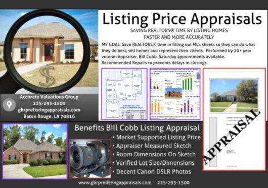 Bill-Cobb-Pre-Listing-Home-Appraisals-For Baton-Rouge-REALTORS