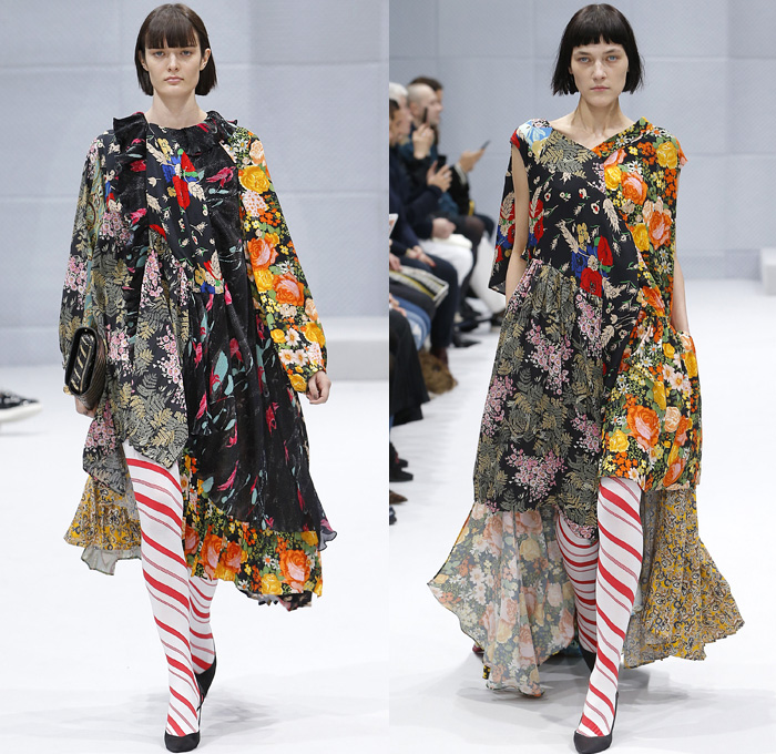 Image result for floral print on floral runway 2017
