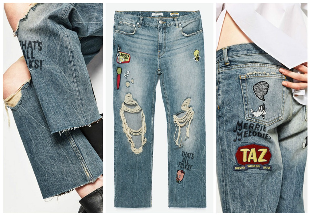 Denim Gets Comic Treatment With Zara Latest Collection