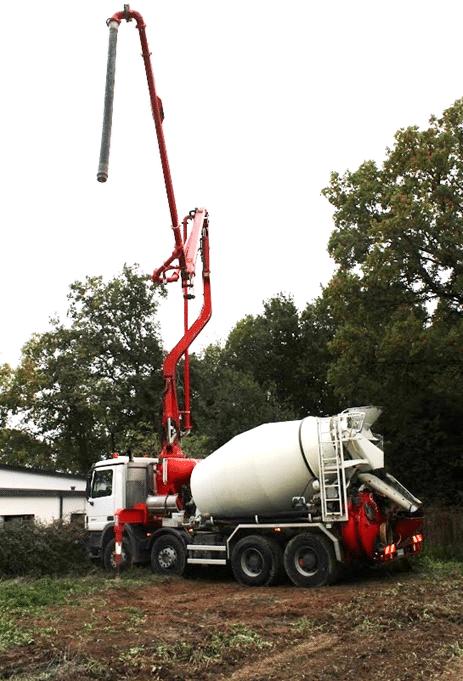 livraison beton toupie a domicile ou