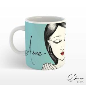 Caneca de porcelana ilustrada Ame-se