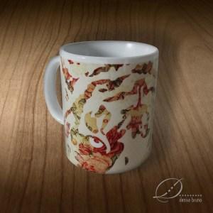 Caneca de porcelana ilustrada - Selvagem