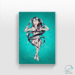 Tela reprodução em canvas Intuição 30x45