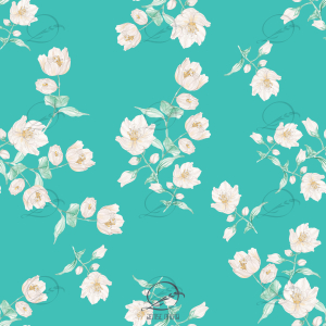 Estampa floral flor branca