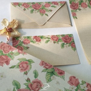 kit presente papelaria 1 - floral rosa