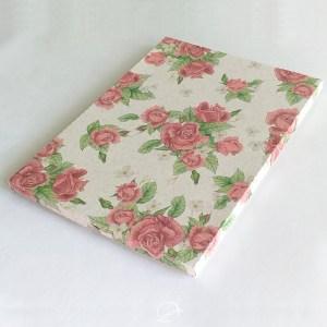Caixinha para kit papelaria presente floral
