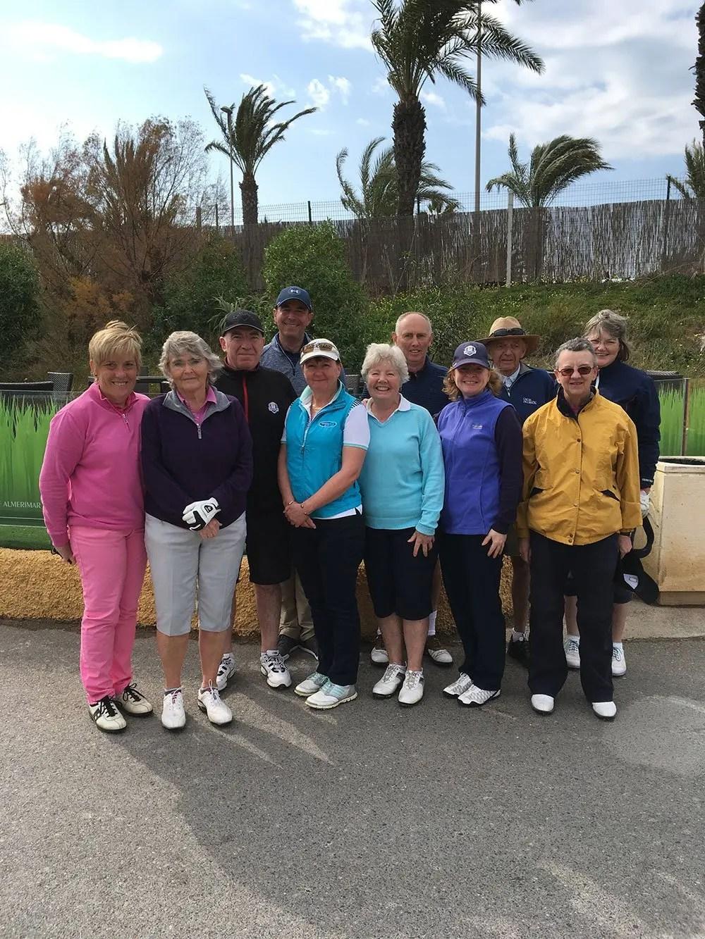 Almerimar Golf School February 2018 team