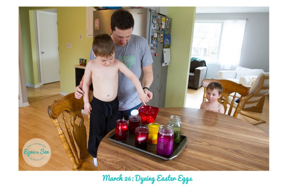 March 26 Dyeing Easter Eggs