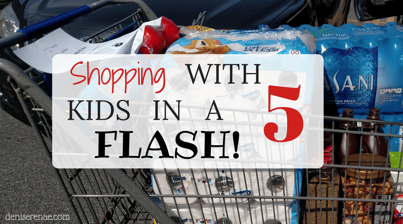 Shopping with 5 Kids in a FLASH