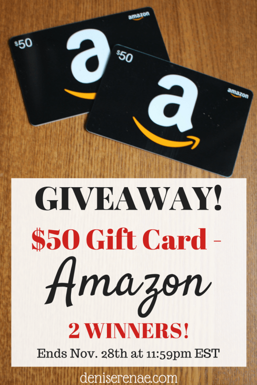 I'm hosting an Amazon Giveaway! Two people will be blessed with a $50 gift card to Amazon. Simply fill out the form below to be entered multiple ways for this Giveaway. #giveaway #amazongiftcard #holidaygiveaway #2winners