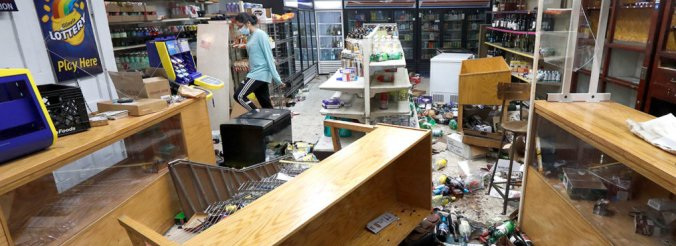 Chicago violence looted store