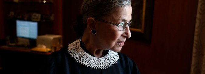 Associate Justice Ruth Bader Ginsburg poses for a photo in her chambers at the Supreme Court in Washington, Wednesday, July 24, 2013.