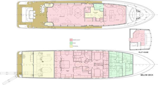 Trinity Yachts GA Layout