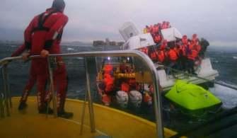 Batmak Üzere Olan Tekneden 68 Yolcu Kurtarıldı | Video