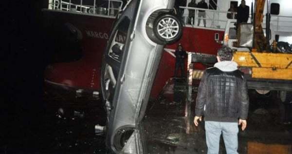 Denize Otomobil Düştü