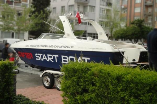 "SAFTER ""2012 WOC"" Start Boat Sponsoru"