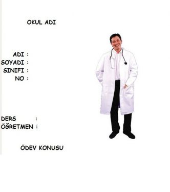 sağlık ödev kapakları