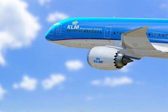 KLM jet flying