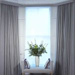 living room wave curtains