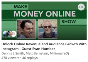 Unlock Online Revenue and Audience Growth With Instagram - Guest Evan Humber