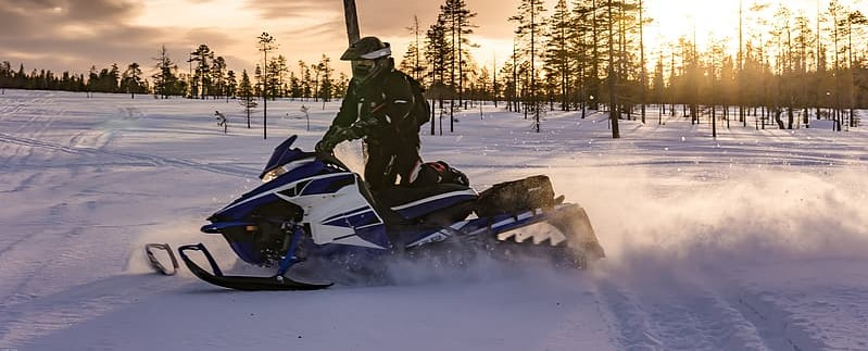 Sunset Snowmobiling