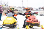 Youth Snowmobile Racers