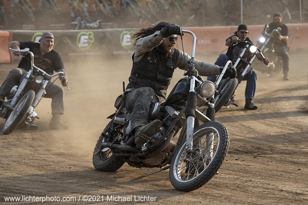 Danger Dan getting on it in the Chopper Races at TMMR