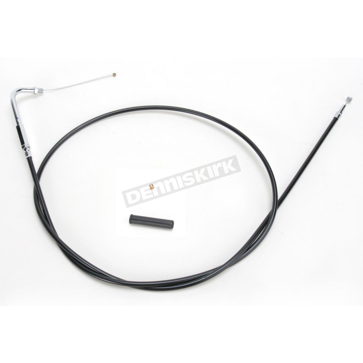 Drag Specialties Black Vinyl Throttle Cable W 90 Degree Elbow